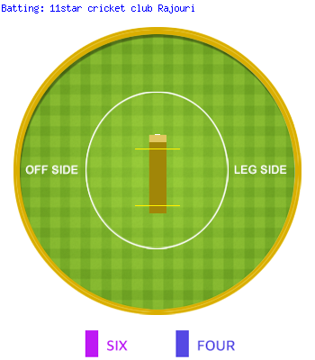 Wagon Wheel Of 11star cricket club Rajouri